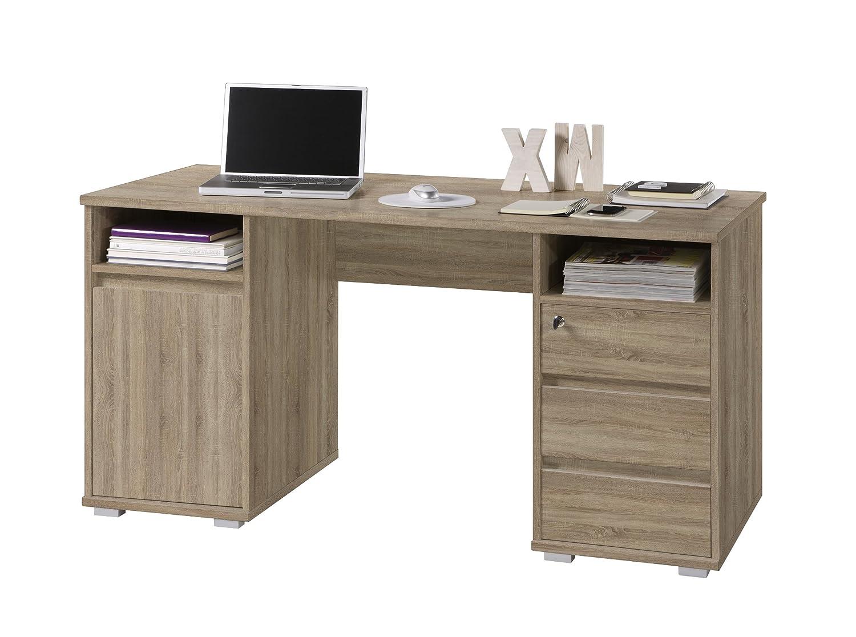 BEGA 39-392-66 Primus 2 Schreibtisch, Eiche Sonoma Dekor, Maße B H T circa 145 x 74 x 65 cm, braun