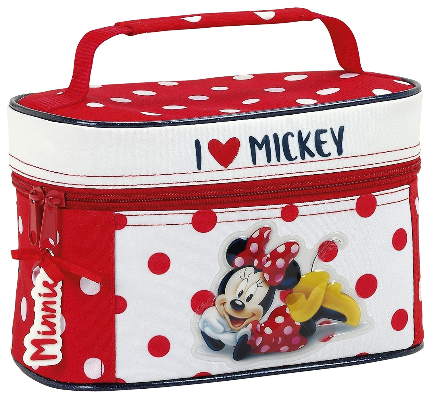 Minnie 811748042 Mouse Neceser, 22 cm, Rojo y Blanco: Amazon ...