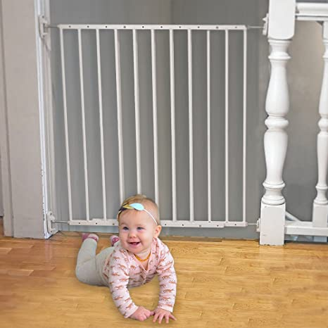 Barrera de puerta y escaleras de seguridad ajustable de 64-109 cm - Valla de seguridad Infantil