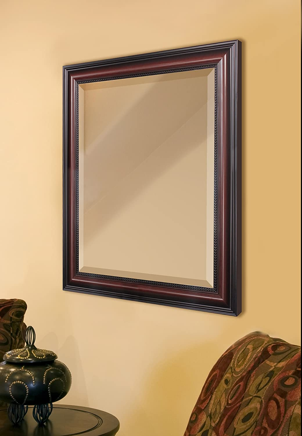 Amazon.com: Head West Traditional Cherry Wall Mirror, 28-Inch by 34 ...