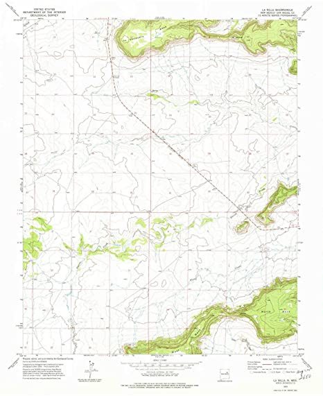 La Silla NM topo map, 1:24000 scale, 7.5 X 7.5 Minute,