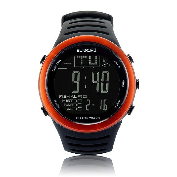 Reloj de pesca digital para hombre Sunroad FR720, estilo deportivo, resistente al agua,