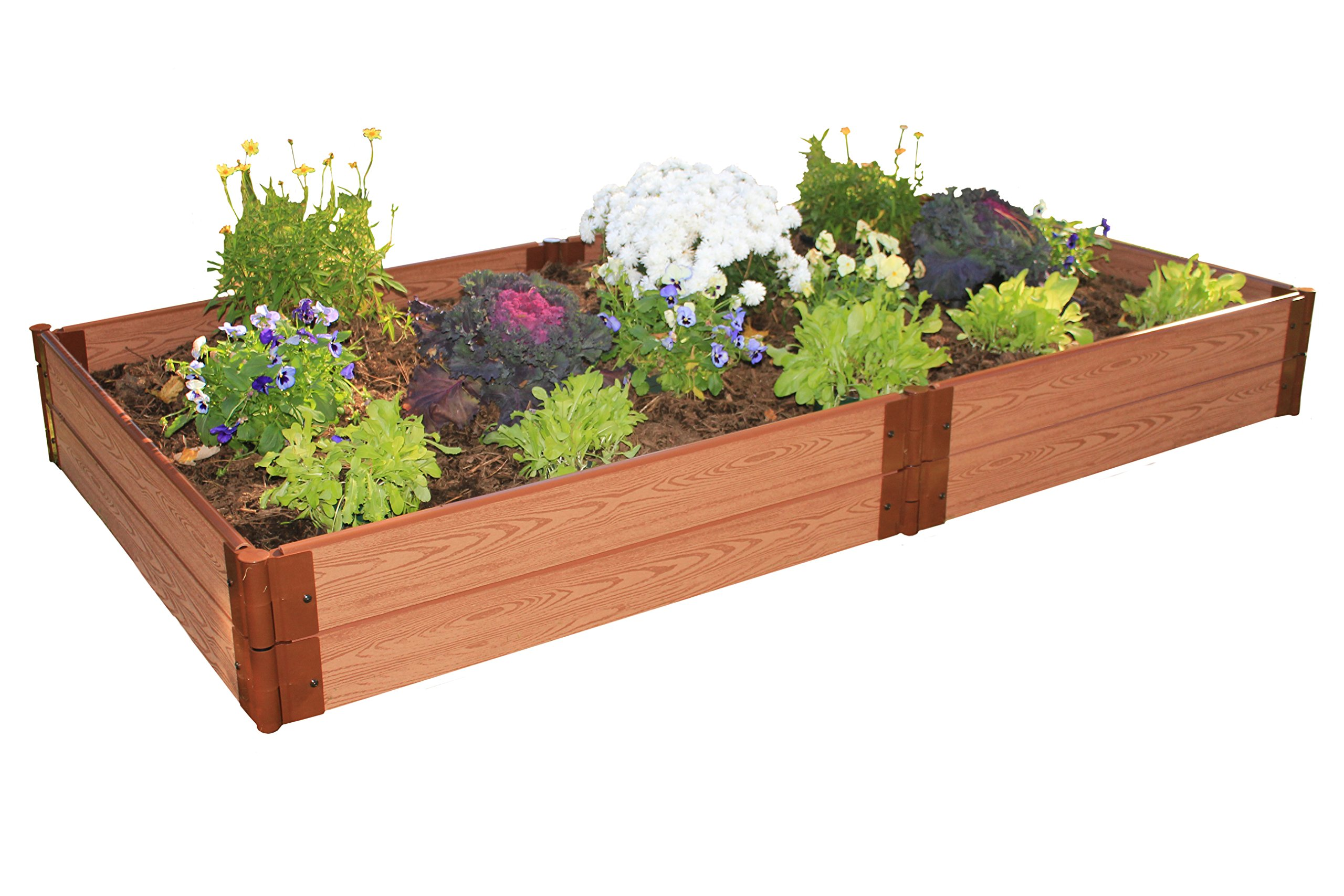 One Inch Series 4ft. x  8ft. x 11in. Composite Raised Garden Bed Kit
