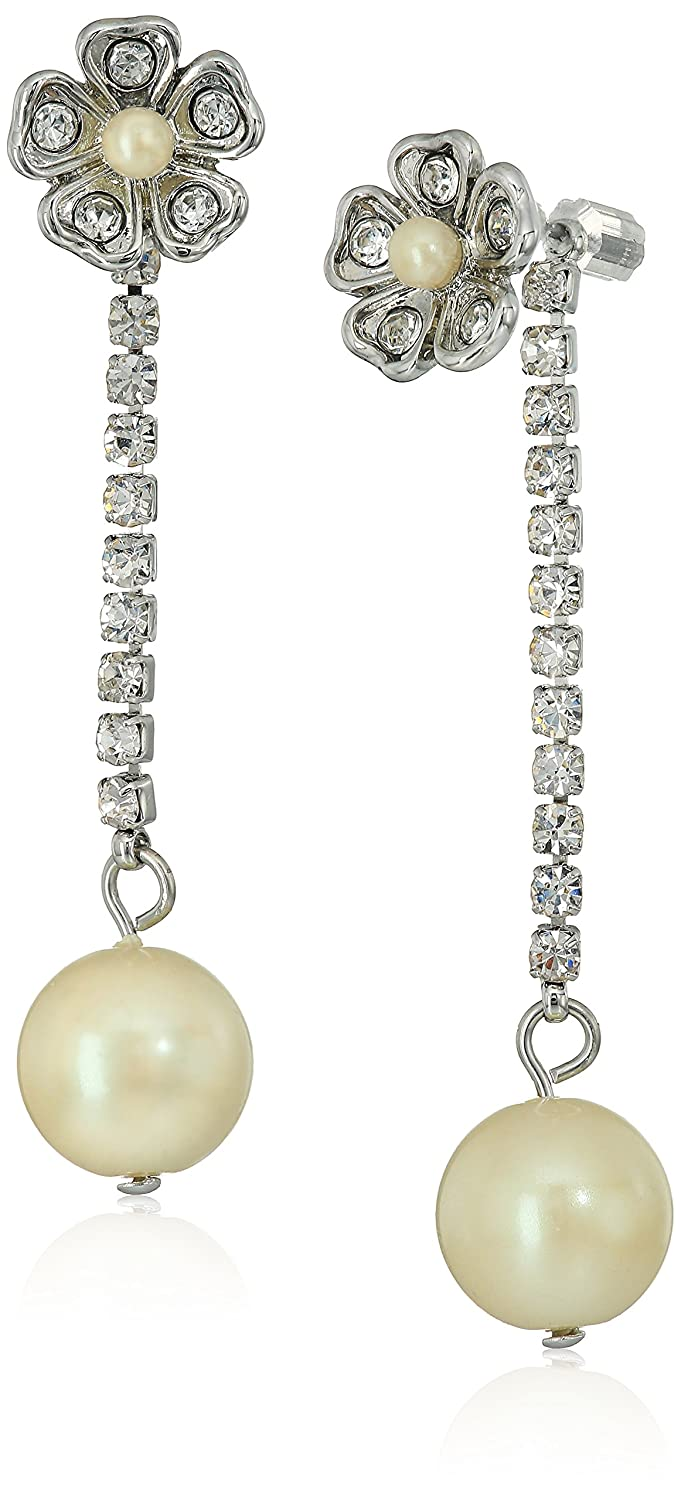 Amazon.com: Carolee Grand Entrance Linear Front/ Back Drop Earrings: Jewelry