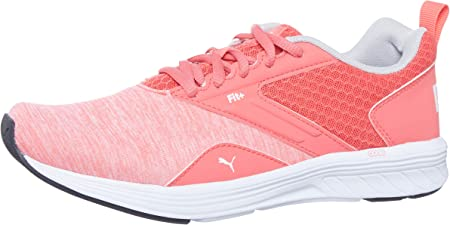 PUMA NRGY Comet Jr Kinder Low Boot Sneaker Sportschuhe Calypso Coral-Weiss