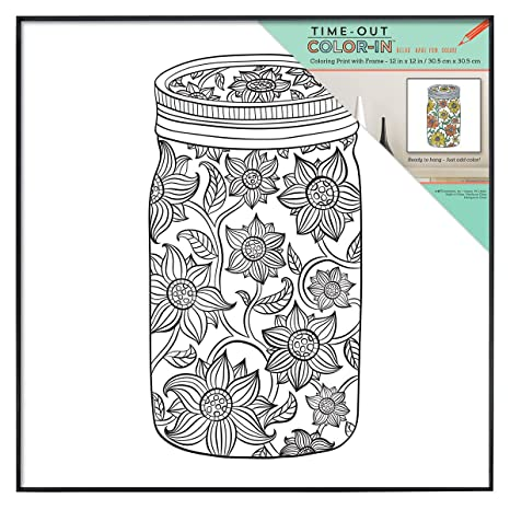 Mcs Time Out Color In 12x12 Inch Framed Adult Coloring Page