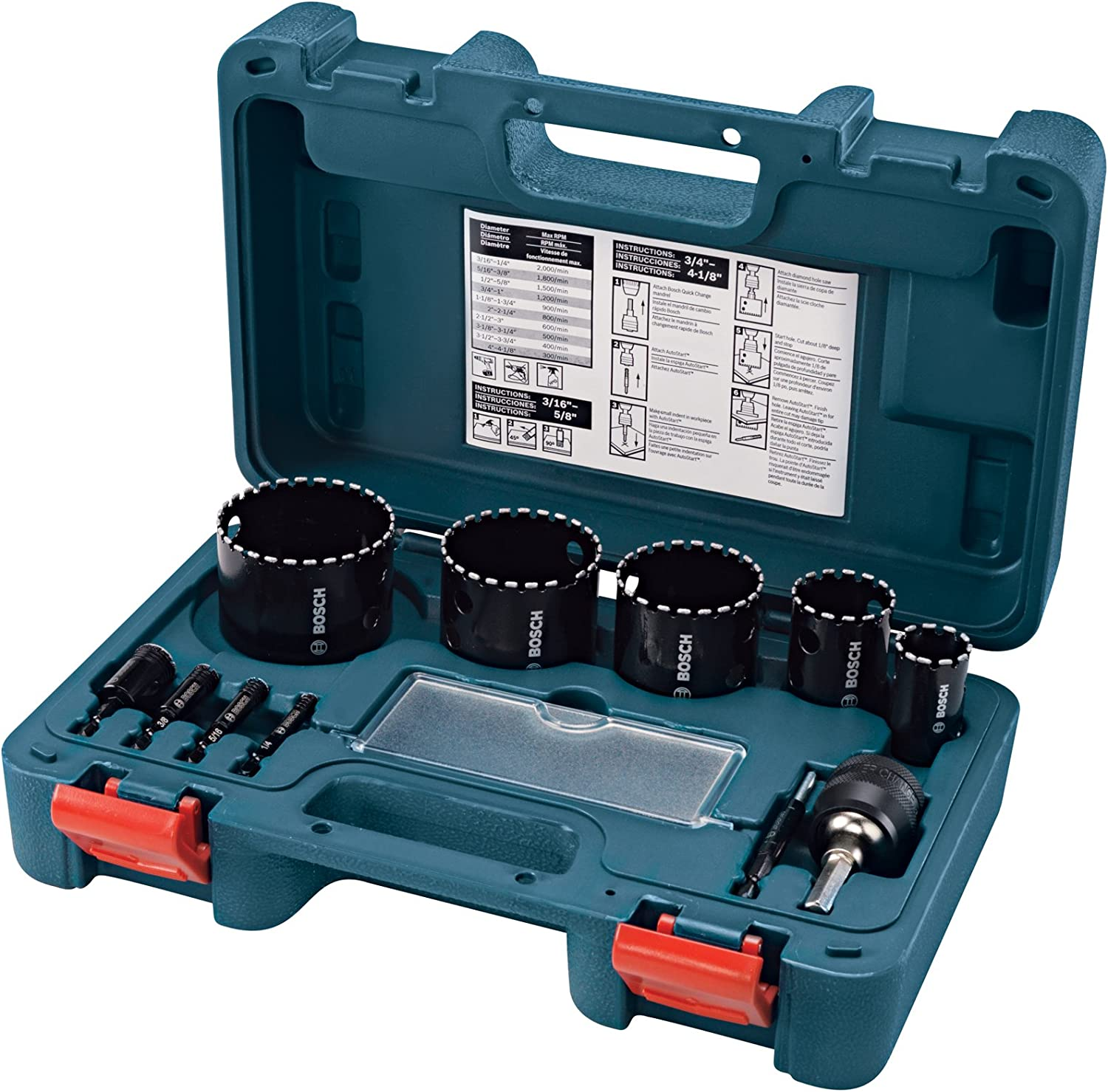 Bosch HDG11 11-Piece Diamond Hole Saw Kit Set