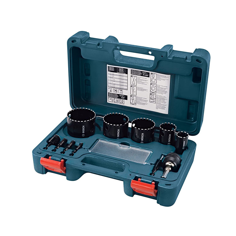 Bosch HDG11 11-Piece Diamond Hole Saw Set
