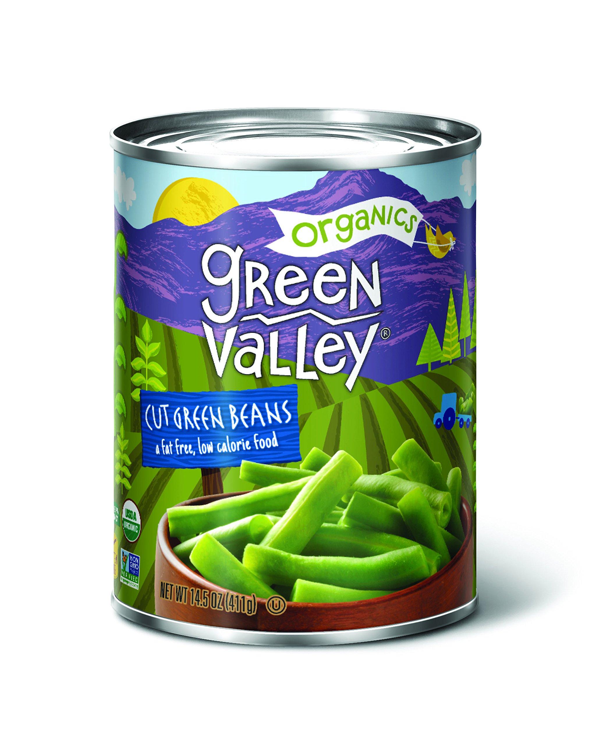 Green Valley Organics Cut Green Beans, 14.5 Ounce (Pack of 12)