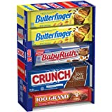 Butterfinger & Co. Chocolate-y Candy Bars, Bulk Full Size Variety Pack with Butterfinger, Crunch, Baby Ruth & 100 Grand Bars,