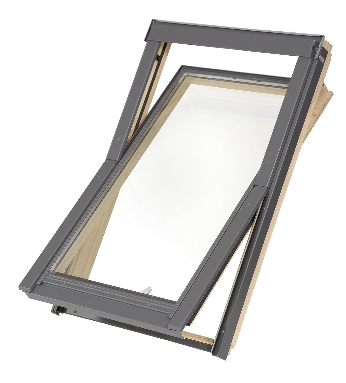 Dachfenster Balio Schwingfenster mit Eindeckrahmen 78x92 cm (VKR Konzern Rooflite Velux)