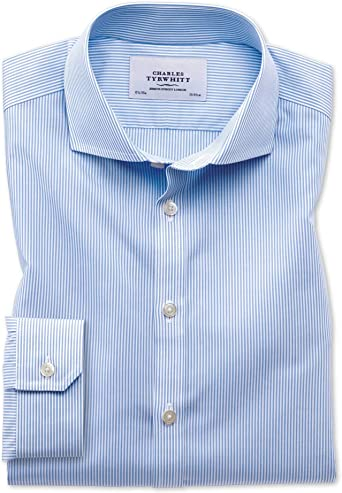 Charles Tyrwhitt Camisa Azul superentallado a Rayas de ...