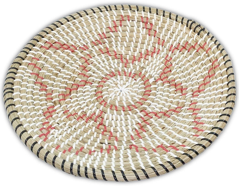 D 13.75, 5 Pedal Ann Lee Design Rattan Woven Fruit Basket