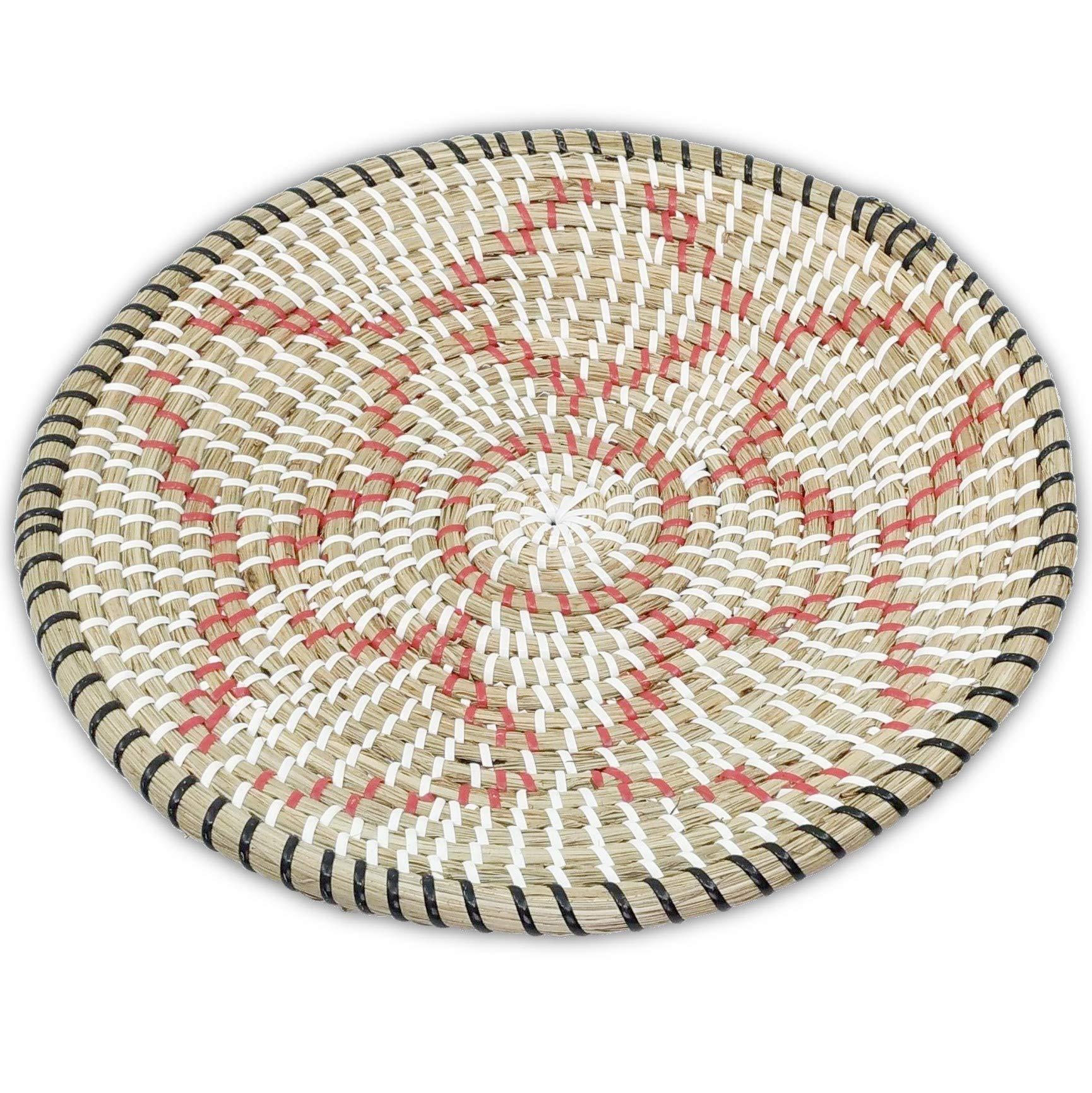 Ann Lee Design Rattan Woven Fruit Basket (D 13.75'', Red Star)