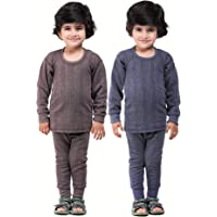 Kuchipoo Unisex Regular Fit Thermal Top and Pyjama Set (Pack of 2)