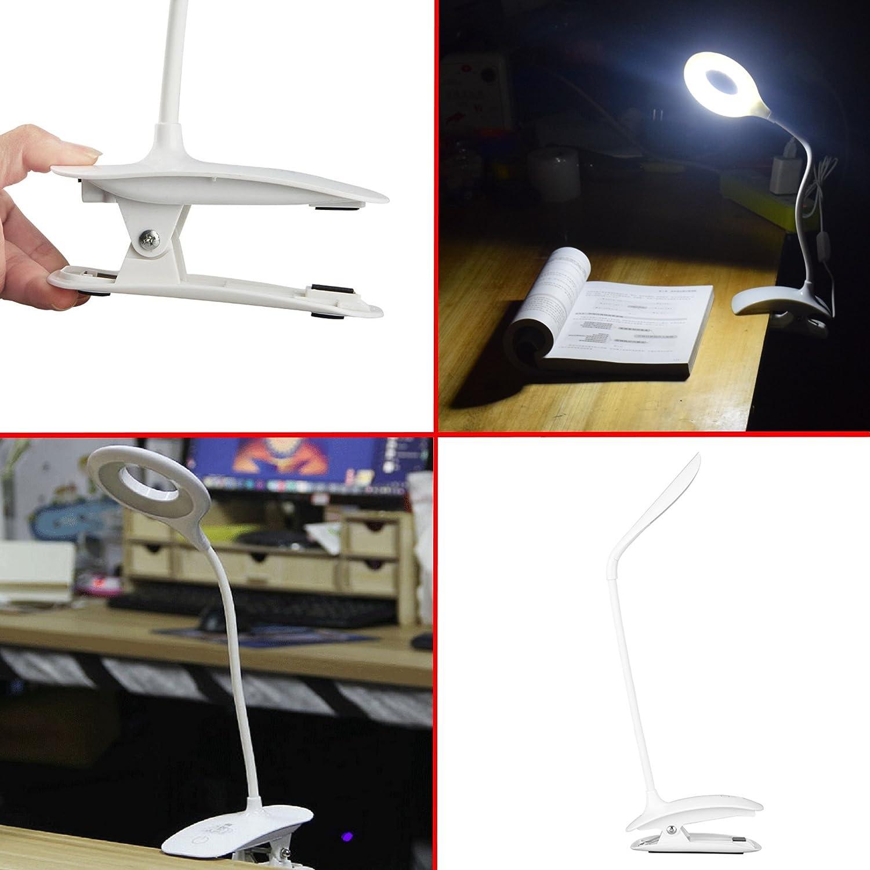 Mit 3 Leuchtmodi Horus Creations Als Schreibtischlampe Oder Tischlampe Leselampe Als Nachtlampe Für Kinder Lithium-Ionen-Akku Professionelle Wiederaufladbare USB LED-Leselampe USB-Kabel