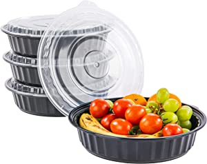CTC Large 48oz Meal Prep Container Bento Box Adult Lunch Box with Lid | Microwave Safe BPA Free Heavy Duty Food Storage Containers Reusable Plastic Snack Bowl Rice Bowl, Salad Bowls | 50 Pack