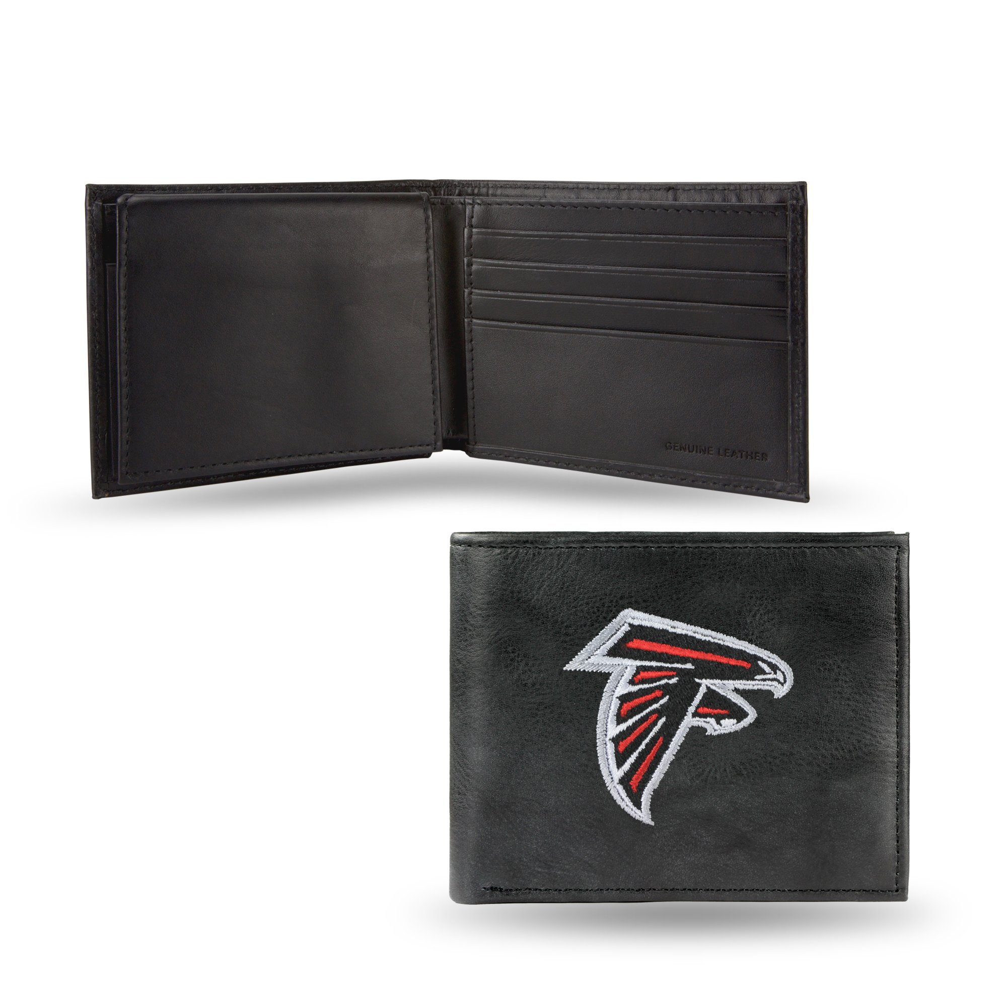 NFL Atlanta Falcons Embroidered Leather Billfold Wallet