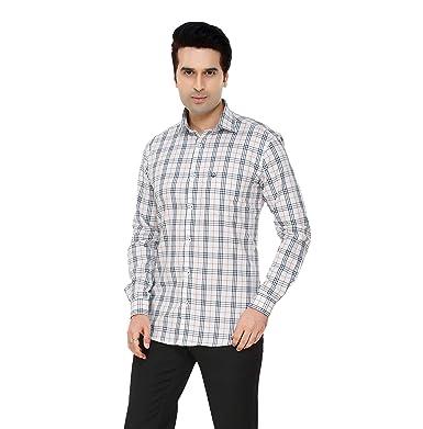 96a7da1cb3953 DONZELL White 100% Pure Cotton Men's Formal Shirt Full Sleeve ...