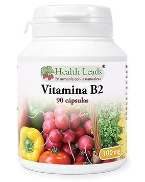 Vitamina B2 100mg x 90 cápsulas, Sin estearato de magnesio o aditivos nocivos, sin OGM, Vegano, La riboflavina ayuda con el cansancio, la fatiga, ya ...
