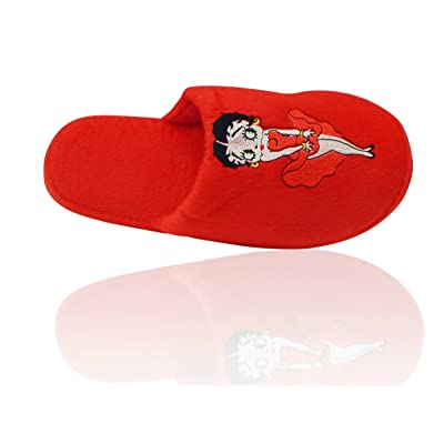 Amazon.com | Betty Boop Ultra-Soft Women's Plush Pinup Scuffs Cozy Non-Skid Slippers - Great for Gifts | Slippers