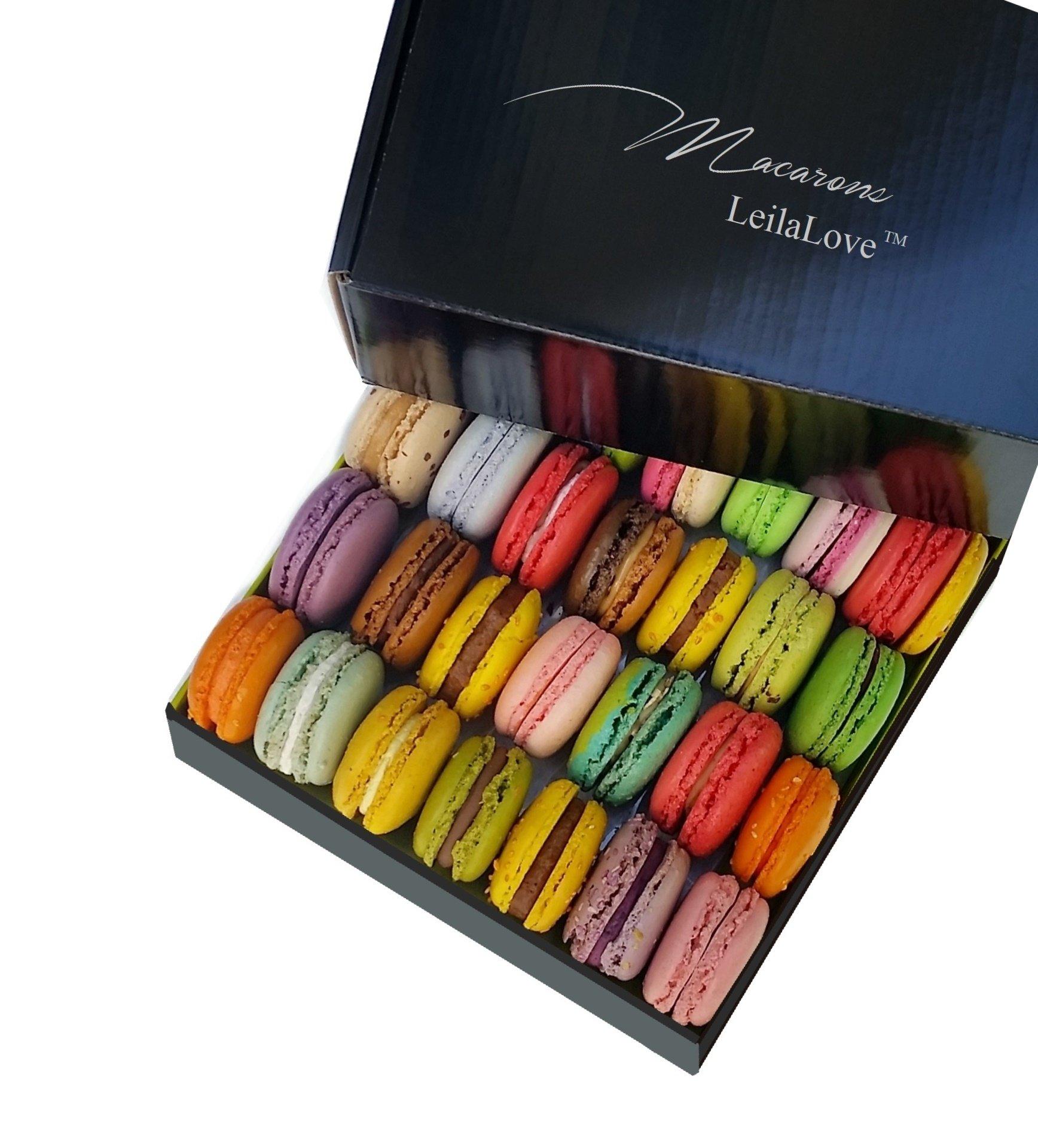LeilaLove Macarons - 60 Macarons 16 flavors Taste Paris in the Comfort of Home