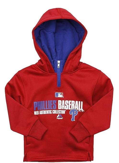 Majestic MLB Baseball Youth Philadelphia Phillies Stadium Wear Fleece Hoodie