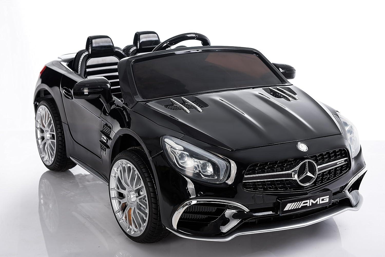 RunRunToys Coche Mercedes SL65 eléctrico de 12V para para niños a Partir de 3 años con Pantalla Display y Entrada mp3 Color Negro Herrajes Multimec 4012: ...