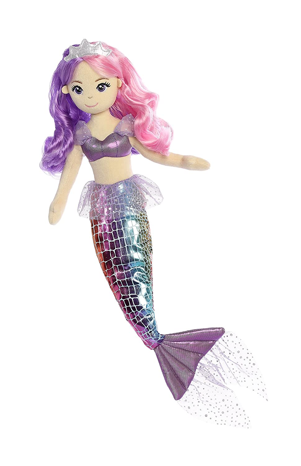 Aurora World Sea Sparkles Rainbow Mermaid Sea Iris Plush Inc. 33234
