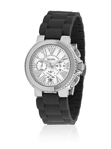 Folli Follie Reloj con Movimiento Miyota WF6T003ZEW Negro 42 mm: Amazon.es: Relojes