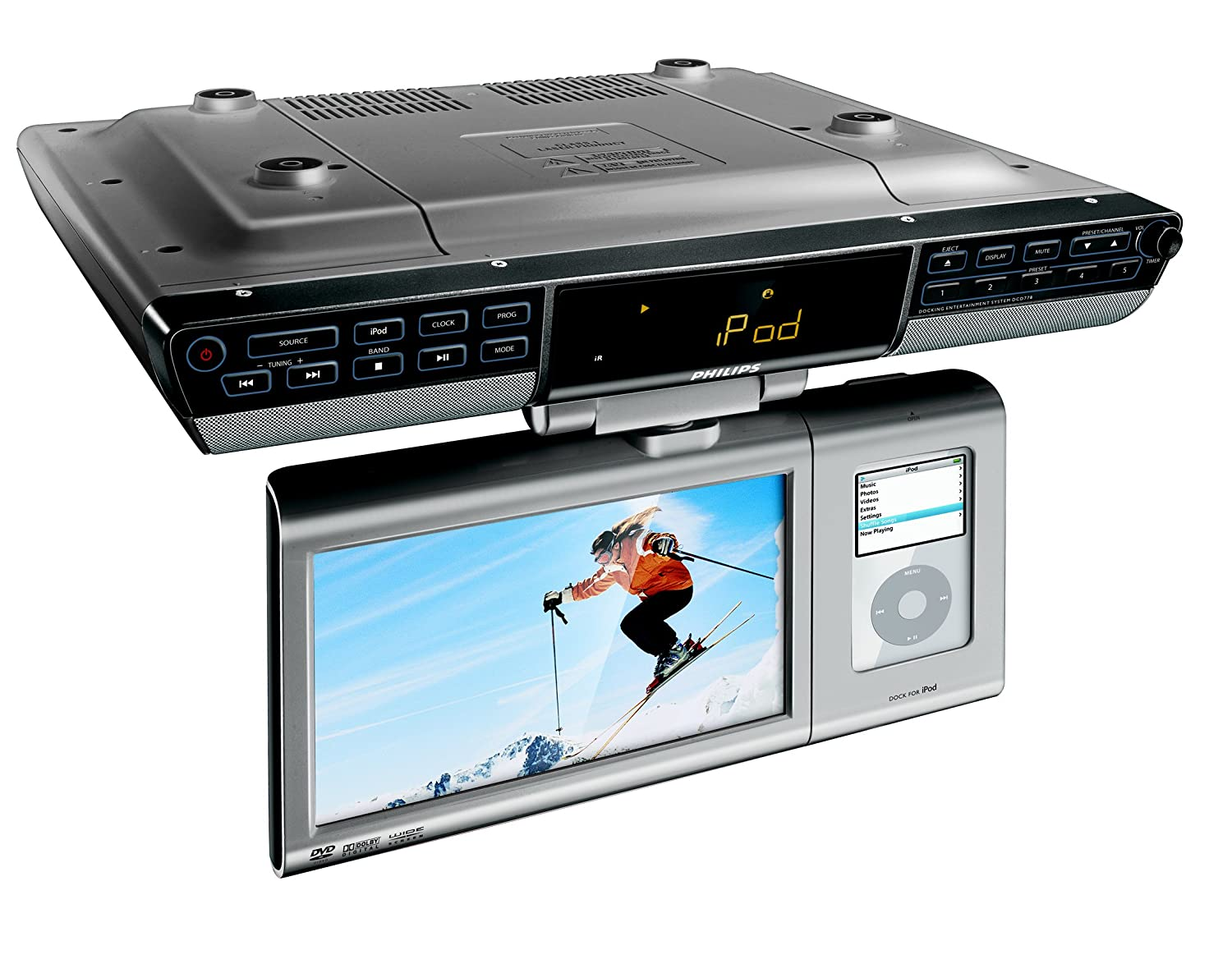 Amazon.com: Philips DCD778 Under the Counter 8.5-Inch LCD TV with ...