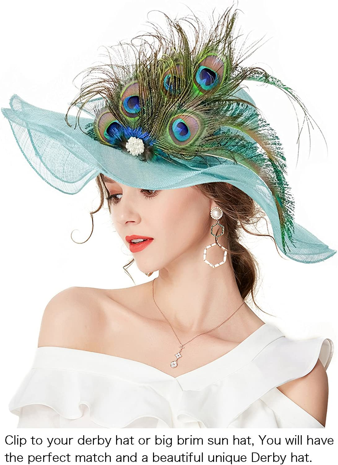 2 Colour Choice approx 18cm long 1 per pack PEACOCK FEATHERS for Fascinator