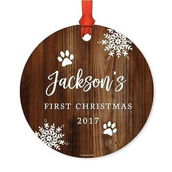 420b8c19c67fa Andaz Press Personalized Dog Cat Pet Animal Round Metal Christmas Ornament