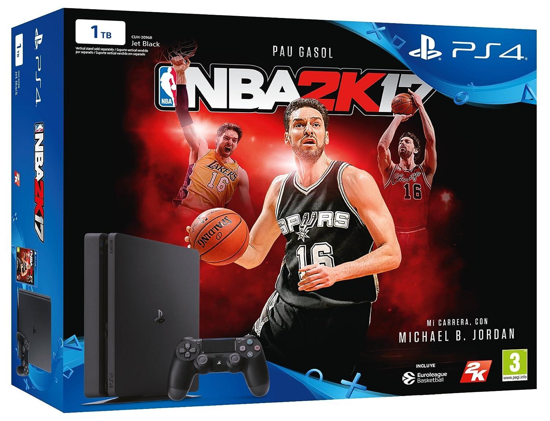 PlayStation 4 Slim (PS4) 1TB - Consola + NBA 2K17: Amazon.es ...
