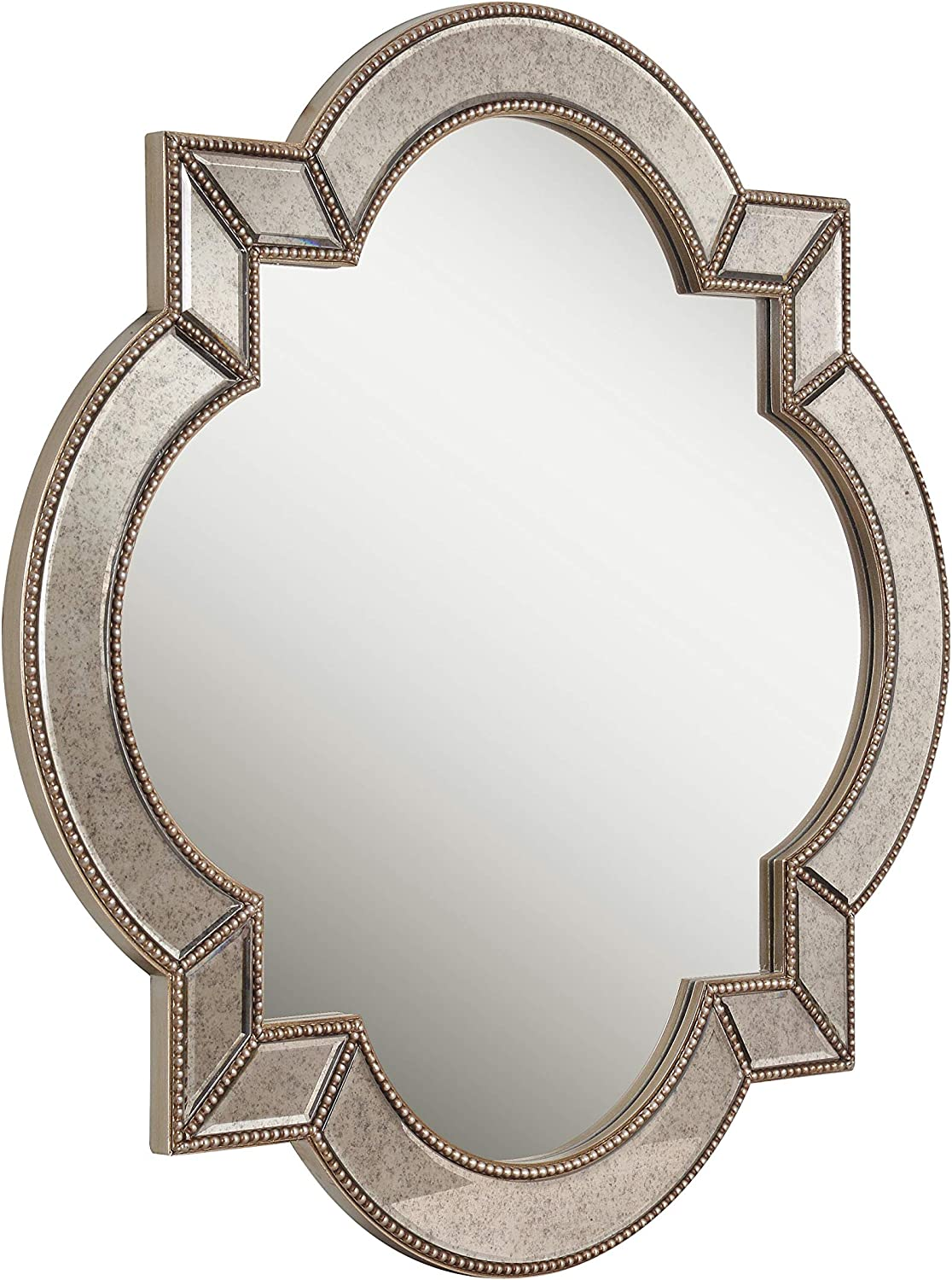 Antique Mirror with Champagne Beads Kenroy Home 60425 Christine Home D/écor