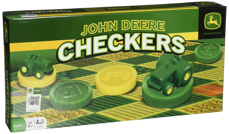 Amazon.com: MasterPieces John Deere Classic Checkers Board Game ...
