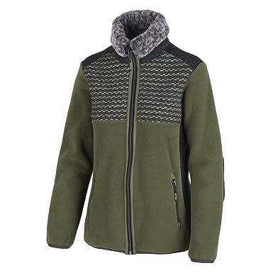 CMP Funktionsjacke Wolljacke Strickjacke blau WoolTech wärmeisolierend