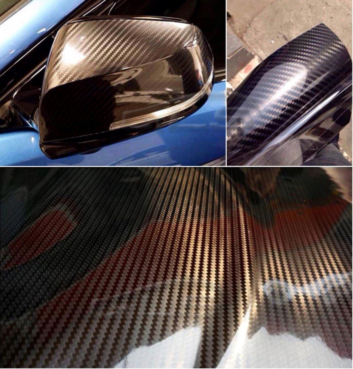 16eur M Carbonfolie Autofolie Folie Carbon Auto Schwarz Glanz 5d 30x150cm Autoaufkleber Hochglanz Auto