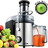 Aicok Juicer Wide Mouth Juice Extractor 800 Watt Centrifugal Juicer Machine Powerful Whole Fruit and Vegetable Juicer with Juice Jug and Cleaning Brush,2 Speed Setting