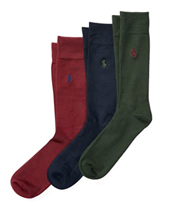 Polo Ralph Lauren - Men\u0027s Super Soft Rugby Trouser Socks, Assorted Colors -  Pack of