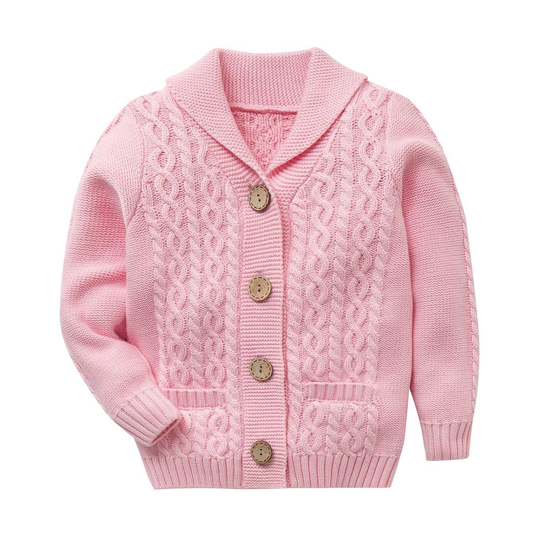 Zebra Fish Little Girls Sweaters Girls Button Up Sweater Long Sleeve Casual Girls' Knit Cardigan 3-4Y