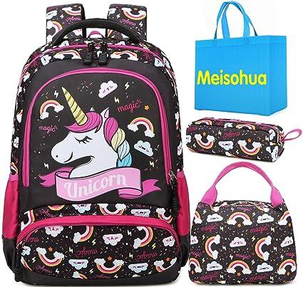 comprare popolare 8356c bad1f Meisohua Unicorno Zaino Scuola Elementare Impermeabile Zaini Bambino  Sacchetti di Scuola Per Ragazze leggero campeggio borse casual Daypacks per  ...