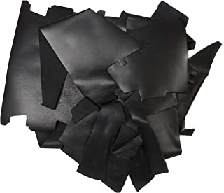 product image for Rustico 2lb Box of Black Colored Top Grain Leather Remnants and Leather Scraps in Form USA Raised Cows, 2 – 3 MM Thick (4.5-5.5 Ounces) Leather for Crafts