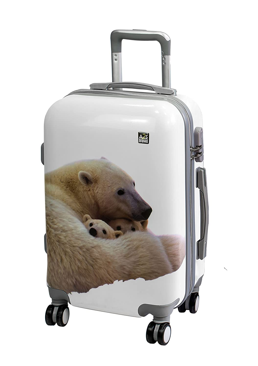 776ed187d A2S Cabin Luggage Lightweight & Durable Hard Shell Suitcase with 8 Spinner  Wheels Carry on Bag larger image
