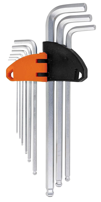 Extra Long Metric MM Allen Hex Keys 1.5mm 10mm 9pc Hard Wearing Set