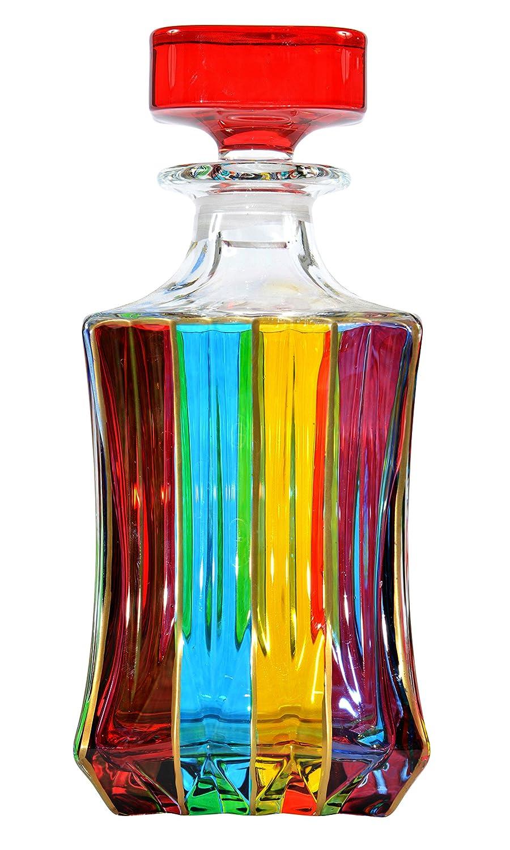 BOTTIGLIA ADAGIO Botella Licor cristal Mano Colores pintadas Tradición Venecia: Amazon.es: Hogar