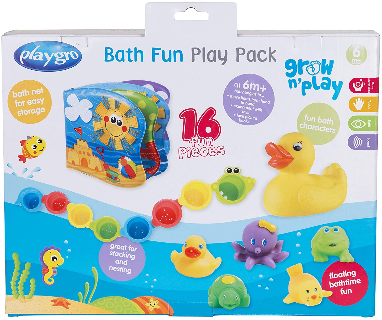 Amazon.com : Playgro 0182933 Bath Fun Toy Gift Pack, 0-24 Months for ...