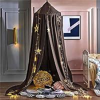 Bedhemel babybed, kinderen muggennet kant baldakijn, meisjes prinses katoenen bedgordijn voor spel lezen slaapkamer…