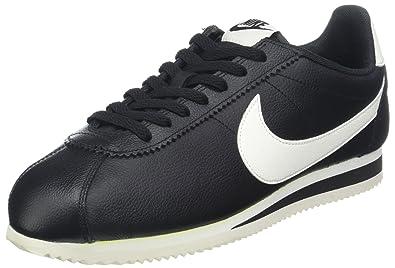 buy online afd8a d92e7 Nike Buty Classic Cortez Leather SE, Bout renforcé Homme, Noir (Black  000000)