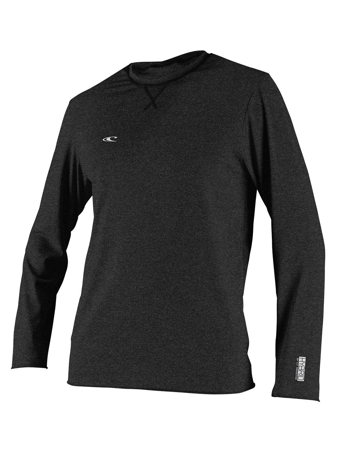 O'Neill Wetsuits Men's Hybrid UPF 50+ Long Sleeve Sun Shirt, Black, Large by O'Neill Wetsuits